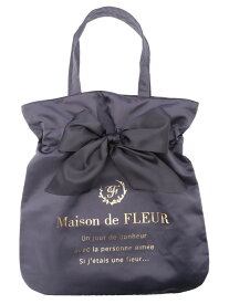 Maison de FLEUR リボントートバッグ メゾン ド フルール バッグ トートバッグ グレー ブラック ピンク レッド ネイビー パープル【送料無料】