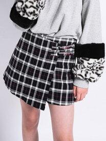 【SALE/76%OFF】ZIDDY ラップスカート風 チェックショート パンツ(130cm~160cm) ベベ オンライン ストア パンツ/ジーンズ ショートパンツ ブラック ベージュ