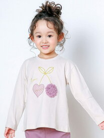 【SALE/30%OFF】SLAP SLIP チェリー モチーフ Tシャツ (80~130cm) ベベ オンライン ストア カットソー Tシャツ ホワイト ピンク