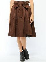 【BROWNY STANDARD】(L)ラップライクアシメミドルスカート