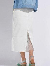 【SALE/40%OFF】DENIMバックプリーツタイトスカート メイソングレイ スカート【RBA_S】【RBA_E】【送料無料】