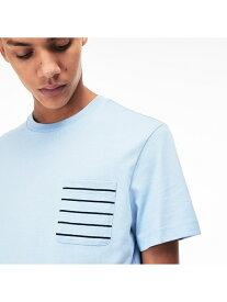 【SALE/30%OFF】LACOSTE ボーダーポケットクルーネックTシャツ ラコステ カットソー Tシャツ【送料無料】