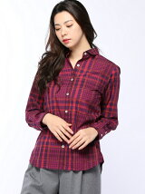 (W)60パッチワークチェックシャツ