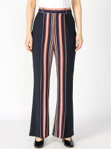 G.V.G.V./(W)STRIPE KICK FLARE TROUSERS