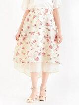 花柄イレギュラーヘムスカート