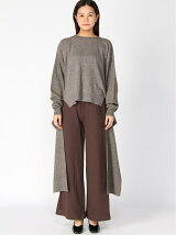 G.V.G.V./(W)TIE WAISTED ROUND NECK KNIT TOP