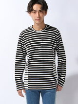 LS TEE MIXED STRIPE
