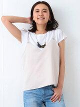 【MORE5月号掲載】ビーミング by ビームス / キャミ付 Tシャツ BEAMS
