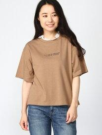 【SALE/36%OFF】WEGO (L)フリルネックロゴT ウィゴー カットソー Tシャツ ブラウン ホワイト ブラック