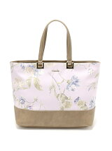 rienda/OLD ROSE FLOWER PRINT TOTE L