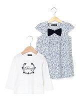 フラワー柄ワンピース&Tシャツ