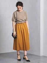 <SACRA(サクラ)>カラーフレアスカート
