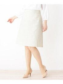 【SALE/60%OFF】index 【42(LL)WEB限定サイズ】ツィードフレアスカート インデックス スカート スカートその他 ホワイト ネイビー ブラック