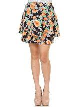 ペプラム花柄スカート