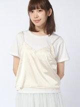 【WEGO】【Tシャツ】(L)キャミレイヤードT