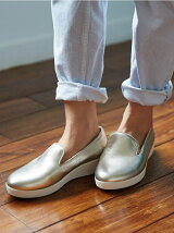 (W)AUDREY METALLIC SMOKING SLIPPERS