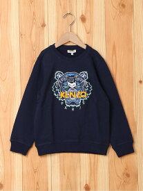 KENZO Tiger Sweatshirt ケンゾー カットソー キッズカットソー ネイビー【送料無料】