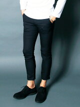 WOOL TOROPICAL STRETCH CROPPED PANTS
