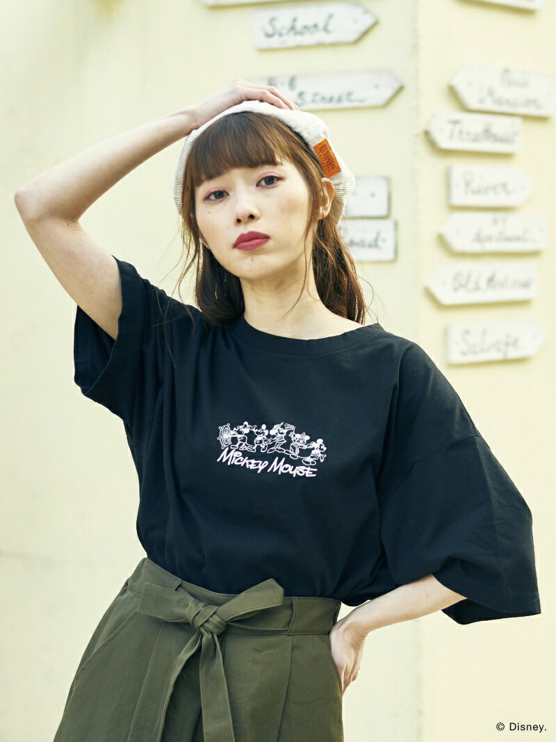 E hyphen world gallery Gold Label MICKEY MOUSE Tシャツ イーハイフンワールドギャラリー カットソー