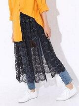 (W)レースカサネギスカート