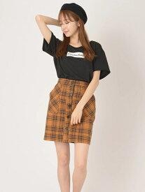 【SALE/67%OFF】前ボタンタイトスカート セシルマクビー スカート【RBA_S】【RBA_E】