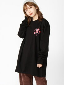 X-girl HONEYCOMB LS BIG DRESS エックスガール ワンピース 長袖ワンピース ブラック イエロー ホワイト【送料無料】