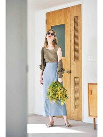 N. Natural Beauty Basic 麻タイトマキシスカート エヌ ナチュラルビューティーベーシック* スカート スカートその他 ブルー ベージュ イエロー【送料無料】