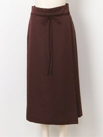 【SALE/30%OFF】Mila Owen ラップ風台形サテンSK ミラオーウェン スカート スカートその他 ブラウン ブラック ホワイト【送料無料】