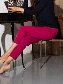 Viaggio Blu ソリビアカラータックパンツ ビアッジョブルー パンツ/ジーンズ ハーフパンツ ピンク ネイビー グリーン【送料無料】