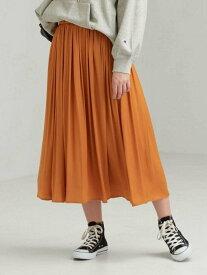 【SALE/50%OFF】UNITED ARROWS green label relaxing CFC サテン ギャザー スカート ユナイテッドアローズ グリーンレーベルリラクシング スカート ロングスカート ベージュ ブラック ブラウン オレンジ ブルー