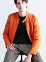 TOMORROWLAND MEN 【WEB先行予約】DENIM×TOMORROWLAND ラムレザー シングルライダースジャケット トゥモローランド …