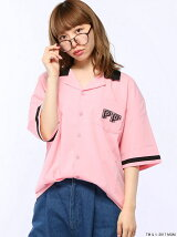 (L)別注ピンクパンサーボーリングシャツ