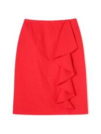 【SALE/70%OFF】ROSE BUD ラッフルスカート ローズバッド スカート スカートその他 レッド ブラック