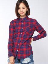 【WEGO】(L)チェックネルシャツ