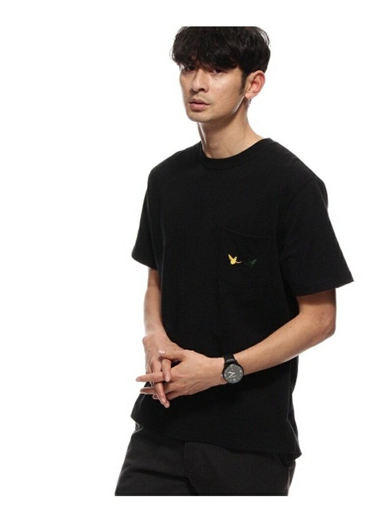 BASE CONTROL ◆MARK GONZALES別注 胸刺繍ポケットTシャツ ベース ステーション カットソー