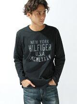 (M)ロゴプリントロングTシャツ