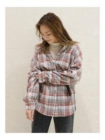 【SALE/50%OFF】Ungrid チェックビッグシャツ アングリッド シャツ/ブラウス シャツ/ブラウスその他 グレー レッド ネイビー【送料無料】