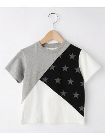 【SALE/37%OFF】【100cm?150cm】カラーブロック 星柄Tシャツ ザ ショップ ティーケー カットソー【RBA_S】【RBA_E】