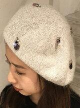 【YOYA】ビジューベレー帽