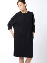 fulling stripe jacquard dress
