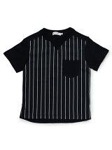 切替ギンガムチェックTシャツ