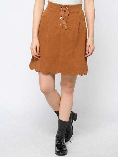裾スカラップスカート