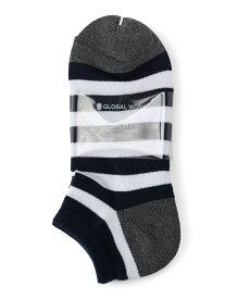 GLOBAL WORK (M)パイルクッションアンクルSK グローバルワーク ファッショングッズ ソックス/靴下 グレー イエロー ネイビー ブラック ブルー ブラウン ホワイト