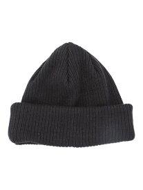 WEGO WEGO/(M)コットン2WAYショートニットキャップ ウィゴー 帽子/ヘア小物 ニット帽/ビーニー グレー ホワイト ブラック ベージュ