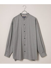 ADAM ET ROPE' 【Carreman】ドロップショルダーバンドカラーシャツ アダムエロペ シャツ/ブラウス シャツ/ブラウスその他 ブラウン グレー【送料無料】
