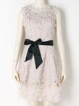 3Dモチーフレースドレス