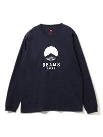 BEAMS JAPAN BEAMS JAPAN / ビームス ジャパン ロゴ Tシャツ 長袖 カラー ビームス ジャパン ビームス ジャパン カットソー Tシャツ ネイビー レッド ブラック【送料無料】