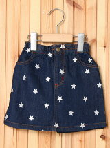 SKIRT STAR EMBROIDERY (4T~7T)