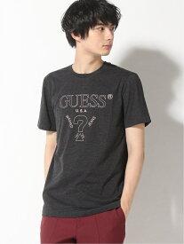 【SALE/50%OFF】GUESS (U)S/SLV TEE SHIRT ゲス カットソー Tシャツ グレー ブラック ブルー ホワイト レッド