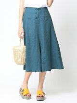 麻Aラインスカート